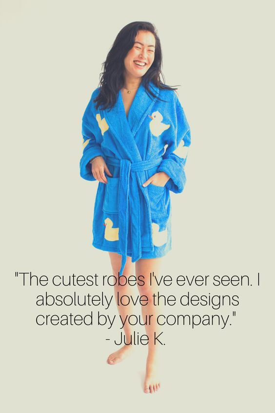 Featuring an Aegean Customer Review on Company Robe Designs