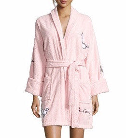 Fifi in Paris Applique Short Terry Loop Bathrobe