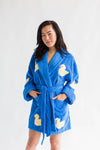 Bath Duck Applique Short Terry Loop Bathrobe
