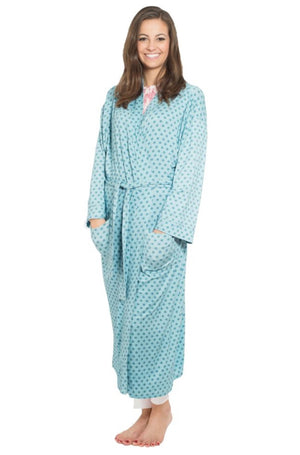 Rayon Jersey Kimono Robe  in Floral Medallion