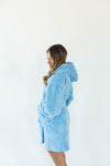 Sherpa Teddy Bear Robe in Crystal Blue