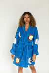 Night and Day Applique Short Terry Loop Bathrobe