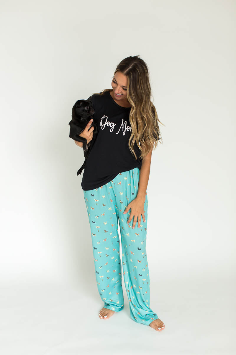 Dog Mom Cloud Knit Pajama Set