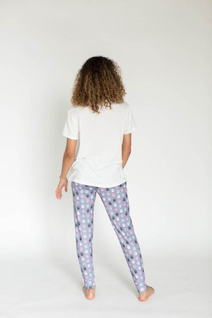Paw Print Cloud Knit Pajama Set