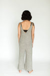 Ribbed Weekend Fleece Lounge Jumpsuit in Oatmeal