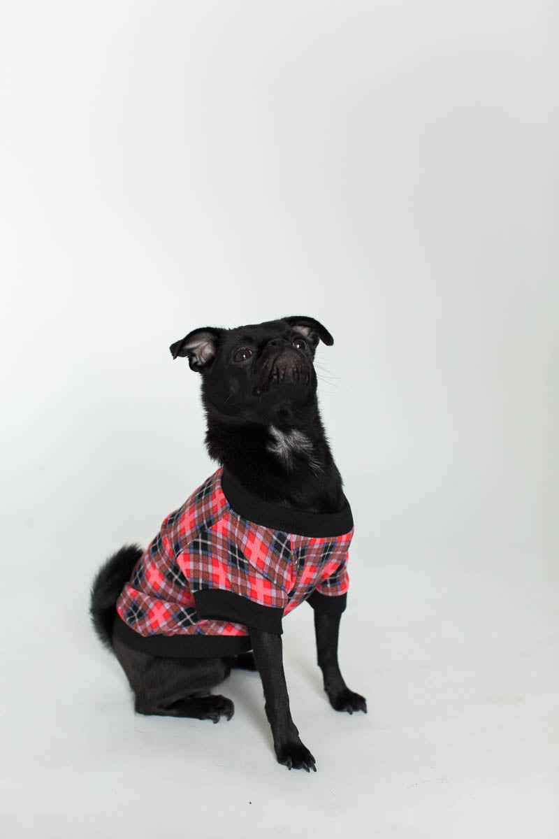 Cabin Plaid Pet Tee