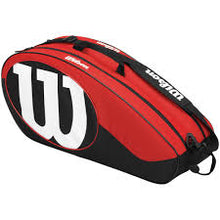 Wilson 6 Pack Bag Red/Black