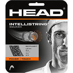 Intellistring 16 Squash Set Wht/Blk