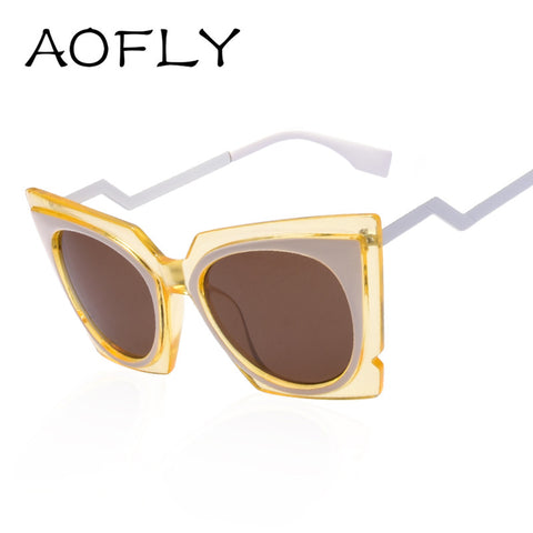 AOFLY New Cat eye Sunglasses women brand designer twist curve Fashion Summer sun glasses Party shades glasses UV400 Lady S1650