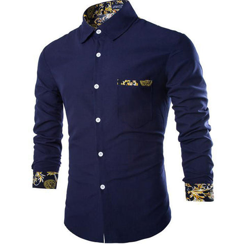 Free shipping 2016 New casual long-sleeved shirt Spring popular men's shirts size M-2XL 38WT