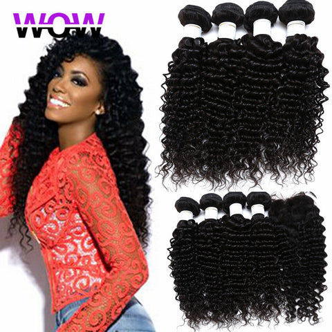 brazilian deep curly virgin hair with closure brazilian deep wave with closure queen hair products with closure 3 and 4 bundles