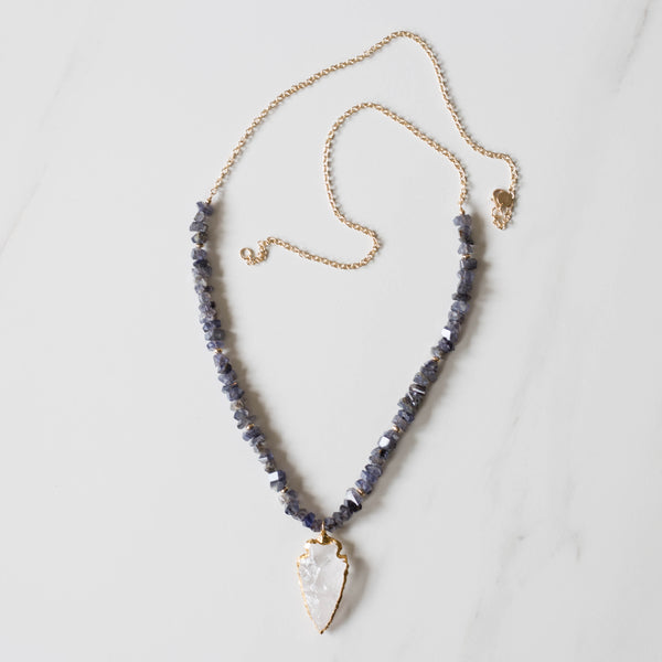 Iolite Arrowhead Necklace