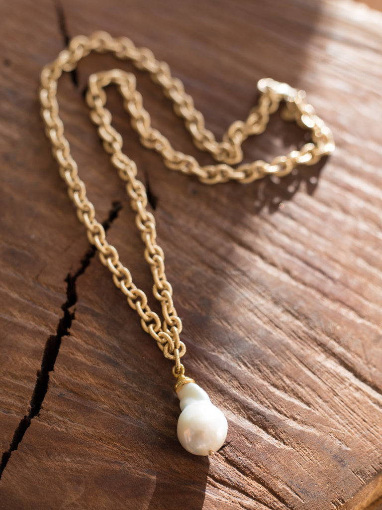 Baroque Pearl Pendant Necklace