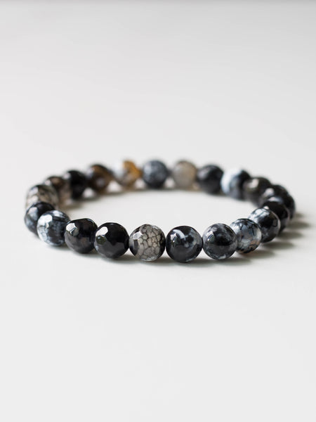 Black Fire Agate Bracelet