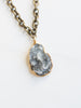 Brass Druzy Pendant Necklace