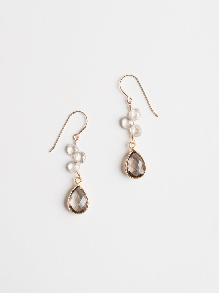 Gemstone Trio Earrings