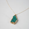 Green Turquoise Pendant Necklace
