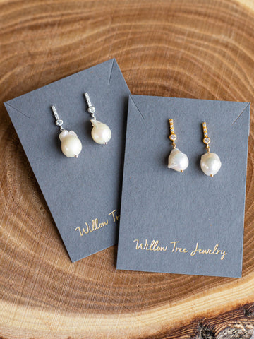Baroque Pearl Post Earrings