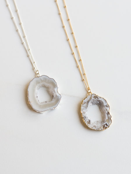 Mini Celestial Agate Necklace