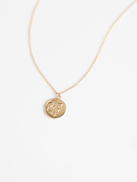 Mini Gold Coin Necklace