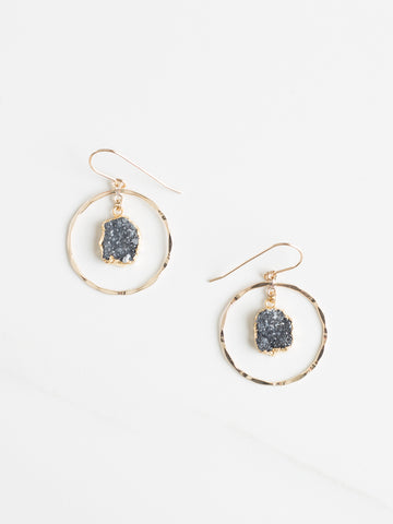 Mini Round Druzy Earrings