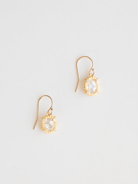 Mini Vermeil Quartz Earrings