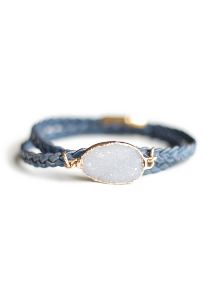 Mini Braided Druzy Bracelet
