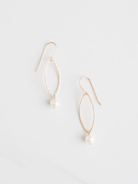 Pearl Marquise Earrings