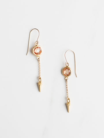 Quartz Spike Earrings