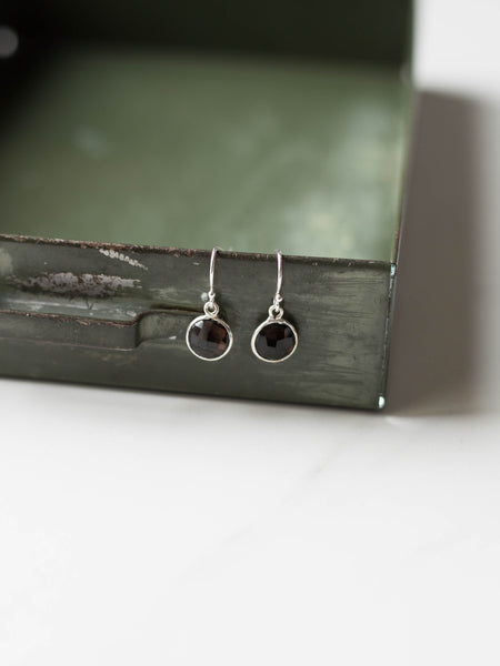 Smoky Quartz Bezeled Earrings