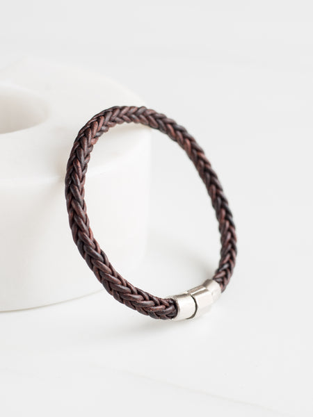 Square Distressed Braided Bracelet
