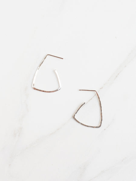 Triangle Hammered Earrings