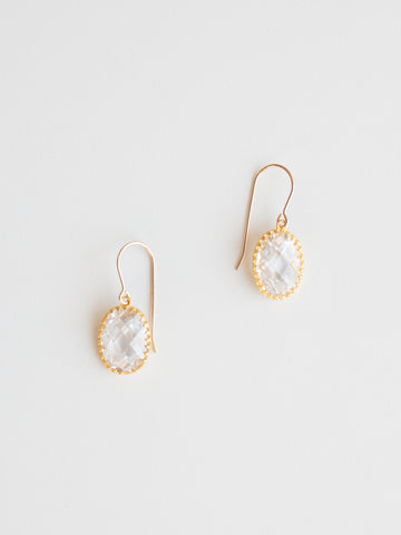 Vermeil Quartz Earrings