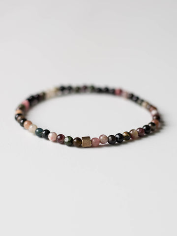 Micro Mini Watermelon Tourmaline Bracelet