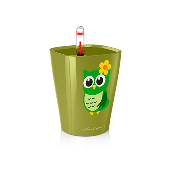 MINI DELTINI LITTLE OWL Planter - OLIVE GREEN