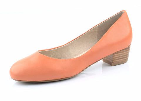 womens peach low heels
