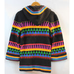 black rainbow cardigan