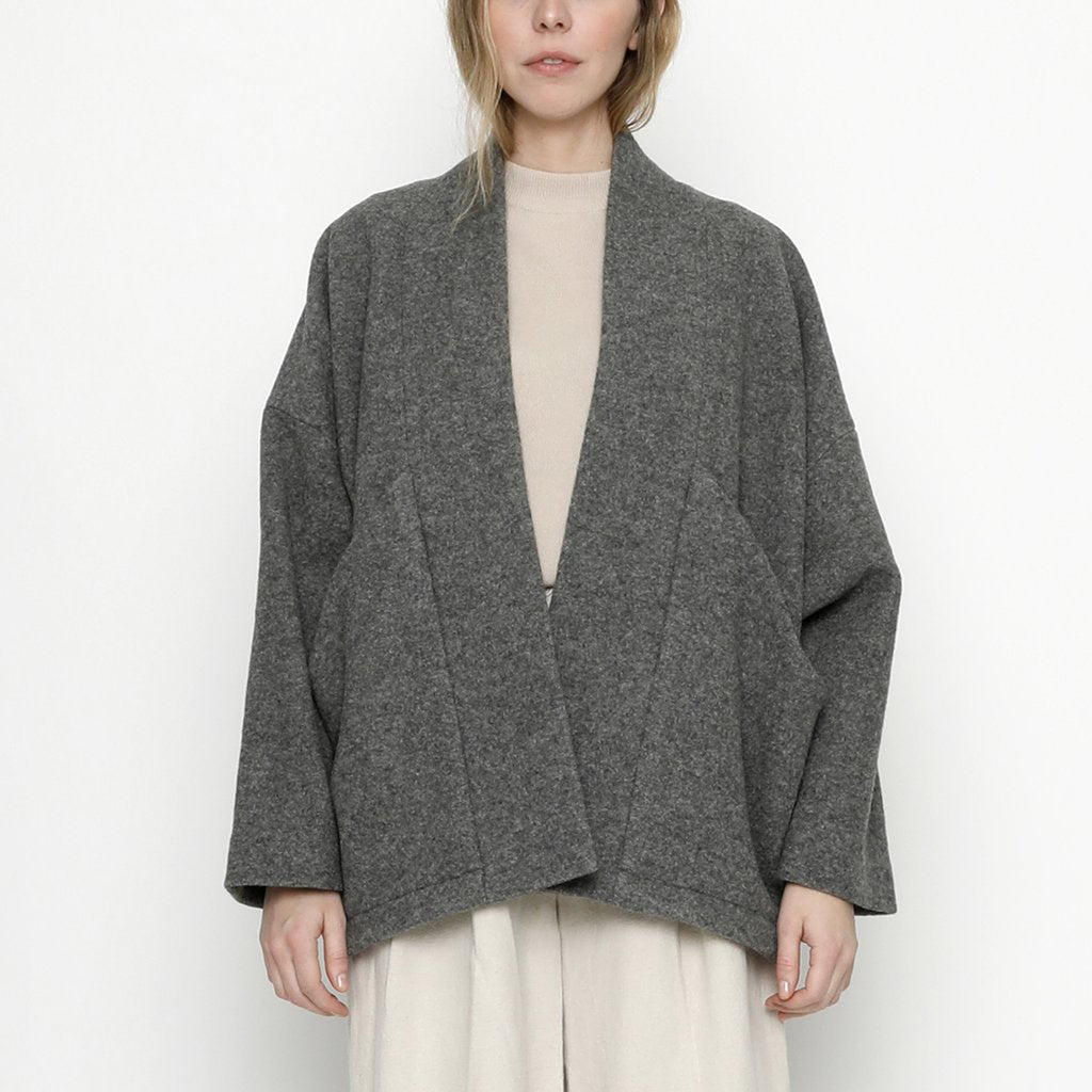 wool sumo jacket in gray