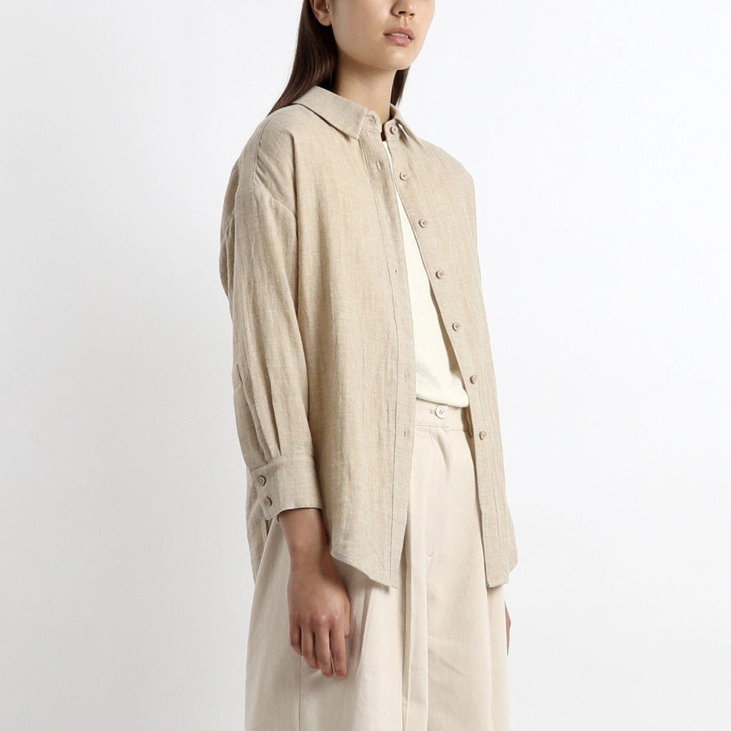 dolman shirt in oatmeal