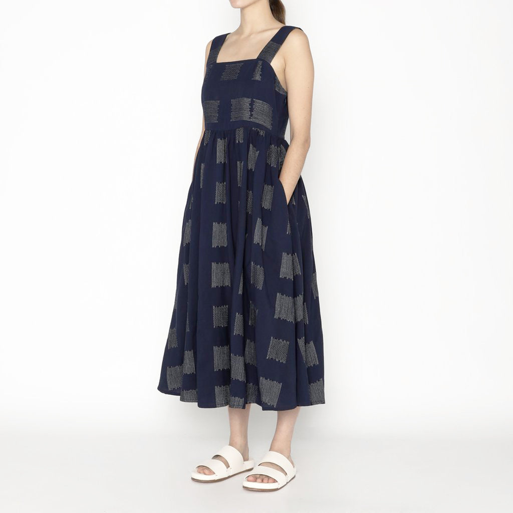 summer sundress in navy