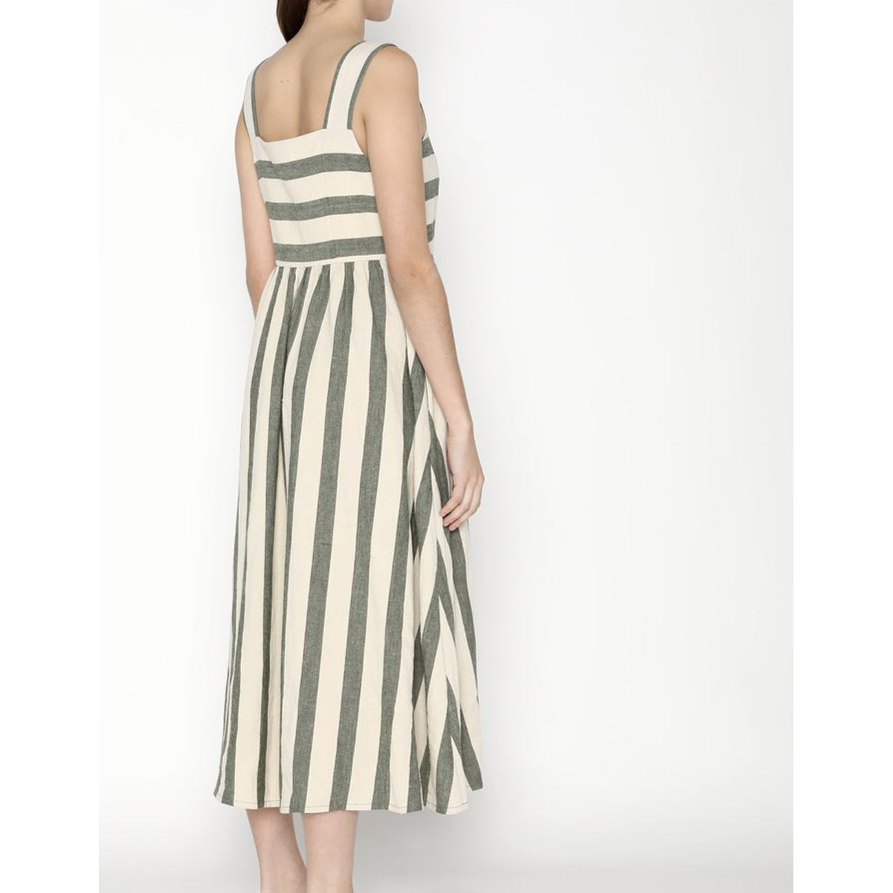 summer sundress in light stripe