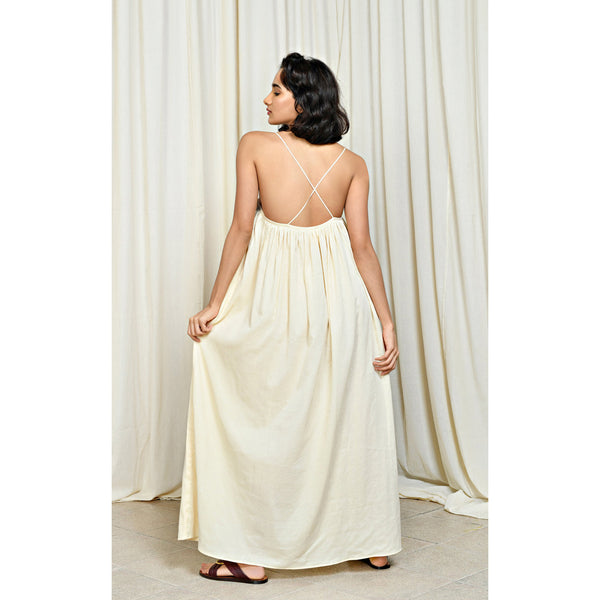 Aish Maira Dress in Ivory