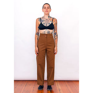 cotton pants in copper