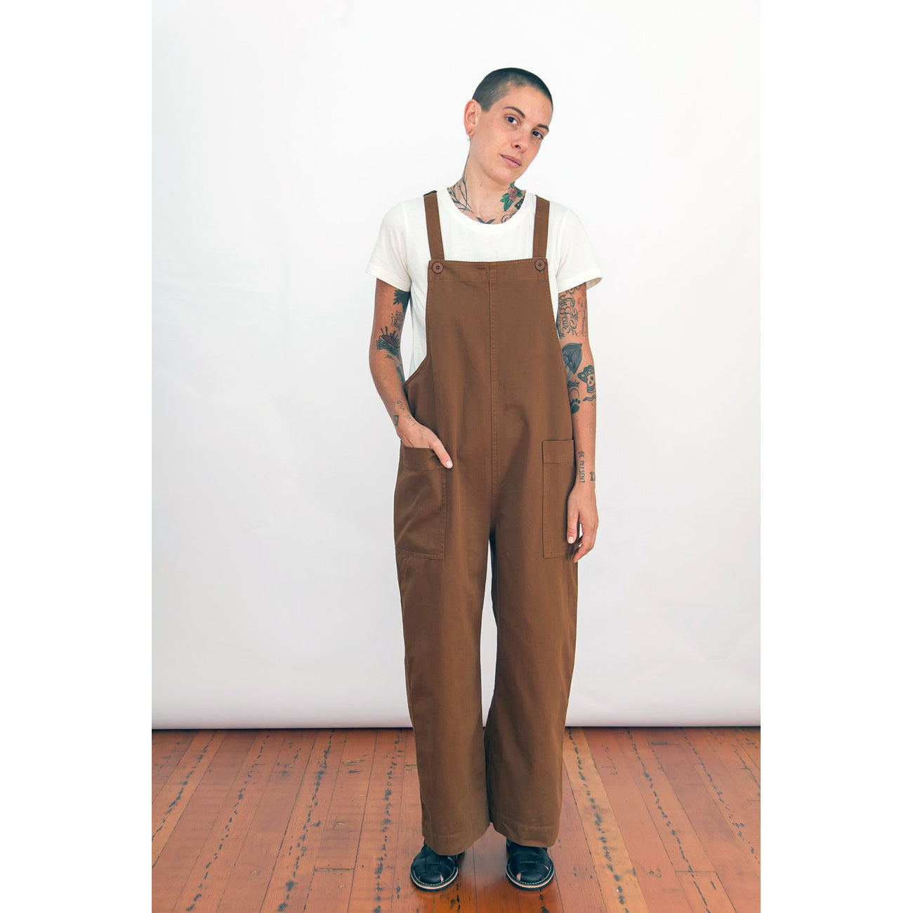 overall jumper in copper