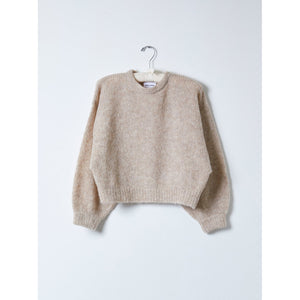 balloon sleeve sweater in grain sac