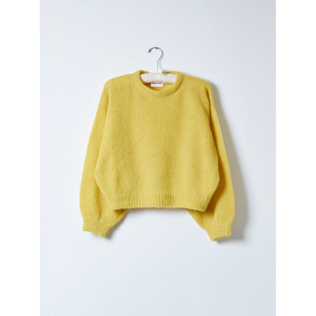 balloon sleeve sweater in dijon