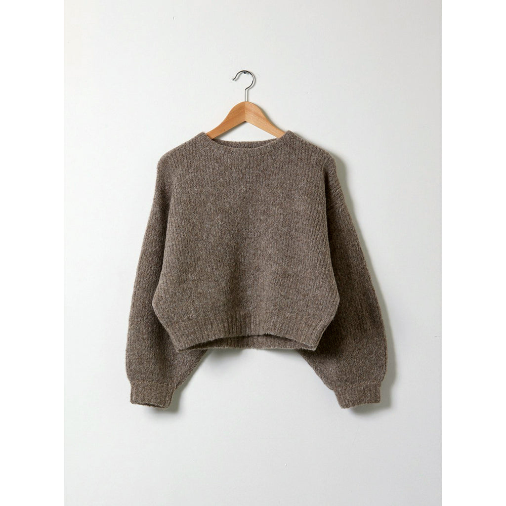 balloon sleeve sweater in deer