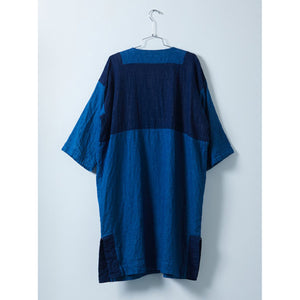 indigo patchwork gillian coat