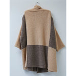 baby alpaca color block hoari coat