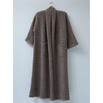 extra long haori coat in deer